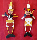 Handmade Wooden Drummer Boy Christmas Decorations / Traditional Wooden Handcrafted Drummer Boy Christmas Ornaments Classic Decorations