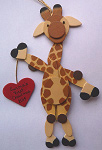Wooden handmade giraffe ornaments Handcrafted custom wooden decorations are approximately 3 - 4 inches