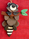 Handmade Wooden Christmas Decoration Wood Handcrafted Christmas Ornaments West Coast Canadian Wildlife Series Raccoon