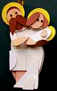 Nativity Handmade Wooden Christmas Decorations Traditional Wooden Handcrafted Nativity Scene Mary Joseph & Baby Jesus Christmas Ornaments Decorations