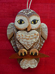 Handmade Wooden Christmas Decoration Wood Handcrafted Christmas Ornaments West Coast Wildlife Series Spotted Owl