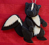 Handmade Wooden Christmas Decoration Wood Handcrafted Christmas Ornaments West Coast Canadian Wildlife Series Skunk