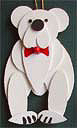Polar Bear Handmade Wooden Christmas Decorations / Traditional Wooden Handcrafted Bear Christmas Ornaments / Decorations