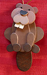 Handmade Wooden Christmas Decoration Wood Handcrafted Christmas Ornaments Canadian Wildlife Series Beaver