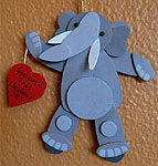 Wooden handmade elephant ornaments Handcrafted custom wooden decorations are approximately 3 - 4 inches