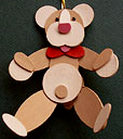 Teddy Bear Handmade Wooden Christmas Decorations / Traditional Handcrafted Christmas Ornaments Decorations Teddy Bear Handmade Wooden Christmas Decoration