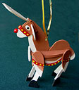 Reindeer Handmade Wooden Christmas Decorations Traditional Handcrafted Christmas Ornaments / Rudolf Wooden Christmas Decorations Rocking Horse Handmade Wooden Reindeer Christmas Decoration