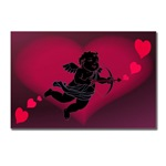 Cupid Valentines HeartsI Love You Gifts  Postcards 8 Pk I Love You Gifts