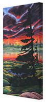 Churchill Trees Arctic Sunset Painting Prints on Canvas