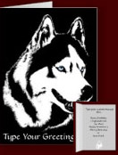 Personalized Husky Greeting Cards Siberian Malamute Card