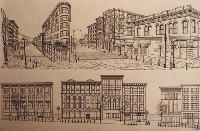 architectural renderings, graphic designer / artist Graphic art web design commercial art,  building portaits, illustration, ink drawing, Click on Image for Detail
