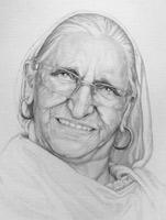 Elder Pencil Portrait from Photographs Vancouver Canada
