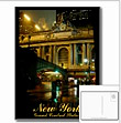 New York Grand Central Train Station Souvenirs Gifts, NYC Postcards New York Gifts & Cards Romantic NY City Night Manhattan Grand Central Station Keepsakes New York Gifts Shop