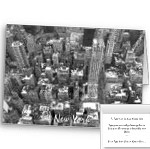 New York Cards Personalized NY City Cards Classic Black and White New York Cards