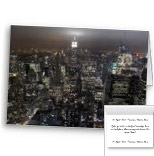 Empire State Greeting Cards Personalized New York City LIghts Customized Cards