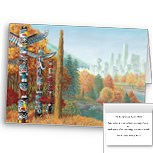 New Vancouver Art Cards Personalized First Nations Totem Pole Landmark Cards