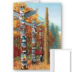 New Vancouver Cards Vancouver Totem Poles Landmark Art Cards Blank