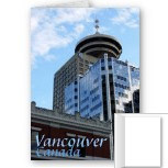 Vancouver Cityscape Cards Vancouver Landmarks Cards Blank or Personalized