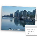 Vancouver Harbour Cards Vancouver Cityscape Cards Personalized