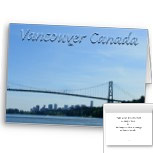 Vancouver Lions Gate Cards Vancouver Stanley Park Cards Personalized