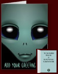 Alien Greeting Cards Personalized Alien Party Invitations