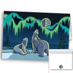 Kid's Arctic Art Cards Bear Art Card Blank Canadian Arctic Wildlife Art Greeting Cards