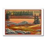 polar bear postcards Arctic Landsacpe painting art print postcards,