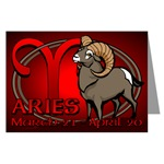 Aries Greeting Cards Gifts Astrology Cards for Men Women Boys Girls Astrology Aries Ram Cards for Birthdays Invitations Aries Horoscope Card Art & Design Beautiful Aries Ram Cards Aries Birthday Cards Astrology Gifts