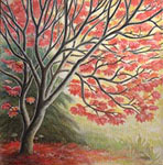 Autumn Maple Landscape Painting & Prints