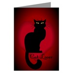 Cat Lover Greeting Card Cat Lover Greeting Cards Cat Lover Apparel, Cat Lover Gifts for Women, Men, Boys, Girls & Baby, Home & Office Beautiful, Colorful Cat Lover Art & Design by Canadian Artist / Designer Kim Hunter. Black Cat Art Cards