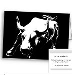 New York Bull Statue Cards Personalized NY City Cards Classic Landmark Cards
