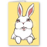 Easter Cards Blank Easter Bunny Greeting Card Beautiful Seasons Greetings Easter Cards for Friend Family Men Women Kids Home & Office Original Beautifully Illustrated Easter Art Cards Holiday Greeting Cards or Blank Easter Cards & Gifts Design by Kim Hunter. See www.kimhunter.ca for many more Cards & Keepsakes Online.