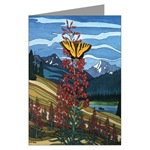 Butterfly & Canadian Landscape Painting Greeting Cards. Original Painting by Canadian artist Kim Hunter / Indigo