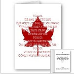 New Canadian Anthem Cards Classic Canada Greeting Cards Blank or Custom