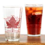 Canada Anthem Glasses Canadian Souvenir Collection