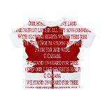 Canada Anthem Baby Shirts Toddler Canada Anthem T-shirts Hoodies Canada Baby Jerseys