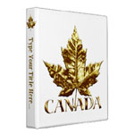 Personalized Canada souvenir book binders and photo albums for home school and office