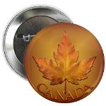 Yellow Maple Leaf Canada Souvenir Buttons & Pins Cafepress Collection