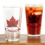 Canada Souvenir Glasses Red Maple Leaf Canada Collection