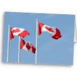 Canada Flag Cards Blank Greeting Cards
