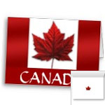 New Canada Flag Cards Personalized or Blank Canada Greeting Cards