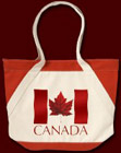Canada Souvenir Tote Bag Cool Red Maple Leaf Environmentally Friendly Canada Shopping Tote Bag for Men, Women, Boys & Girls. Original Cool Canada Flag Souvenir Bags, Satchels Gifts & Canadian Maple Leaf Tote Bags Design by Kim Hunter