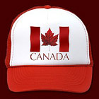 Canada Souvenir Baseball Caps & Trucker Hats Cool Canada Flag Maple Leaf Caps, Canada Hats & Gifts for Men, Women, Boys & Girls Beautiful Red Canadian Maple Leaf Caps & Hats Souvenir Design by Canadian Artist Kim Hunter. See http://www.kimhunter.ca for more Canada Souvenir Caps Gifts & Apparel Designs