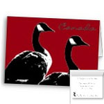 Canada Geese Cards Personalized or Blank Canada Goose Cards