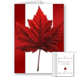 New Canada Flag Cards Personalized or Blank Canada Souvenir Greeting Cards Personalized Souvenir Cards Canada Invitations