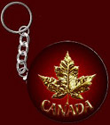 Canada Souvenir Key Chain Cool Canada Flag Maple Leaf Key Chains, Canada Keepsakes & Gifts for Men Women Home & Office Beautiful Red Canadian Maple Leaf Key Chains Souvenir Design by Canadian Artist Kim Hunter.