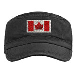 Canada Souvenir Military Cap Canada Caps & Gifts Cool Canada Flag Military Caps & Gifts Canada Flag Art Caps