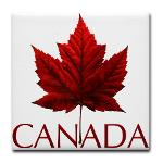 Canada Souvenir Coasters Red Maple Leaf Collection
