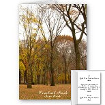 New York Cards Personalized Autumn NY Central Park Cards Invitations