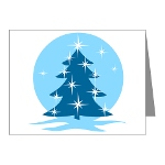 Happy Holiday Blank Cards Blue Tree Cards Non Secular Christmas Cards